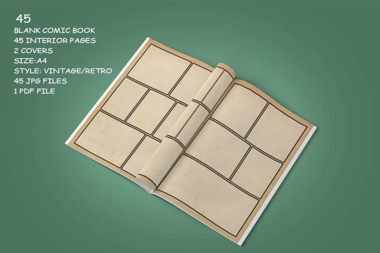 Blank Comic Book Interior Pages & Covers JPG-PDF-PSD-PNG example 8