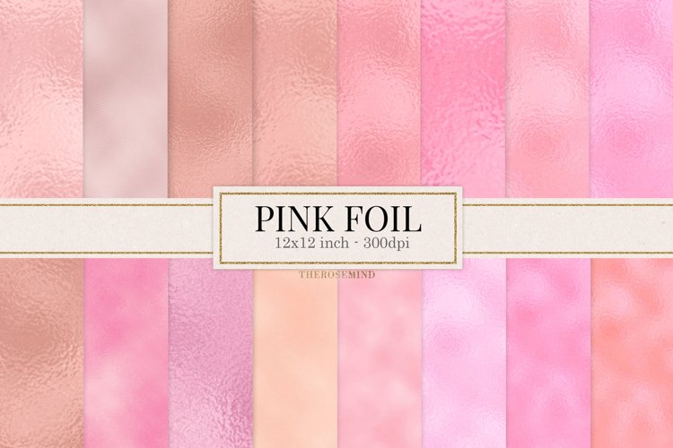 Pink blush digital paper, background example image 1
