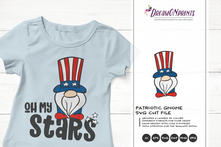 Patriotic Gnome SVG | Oh My Stars | Funny Independence Day