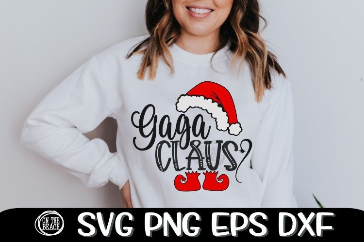 Gaga Claus - SVG PNG EPS DXF example image 1