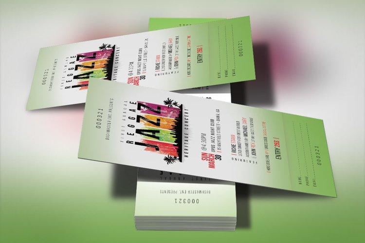 Reggae Jazz Concert Ticket Template example image 1