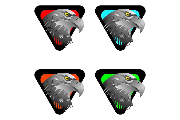 eagle head logo template, vector illustrations example image 1
