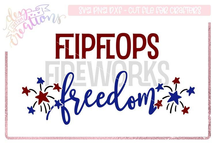 Flip-flops Fireworks Freedom - 4th of July Design