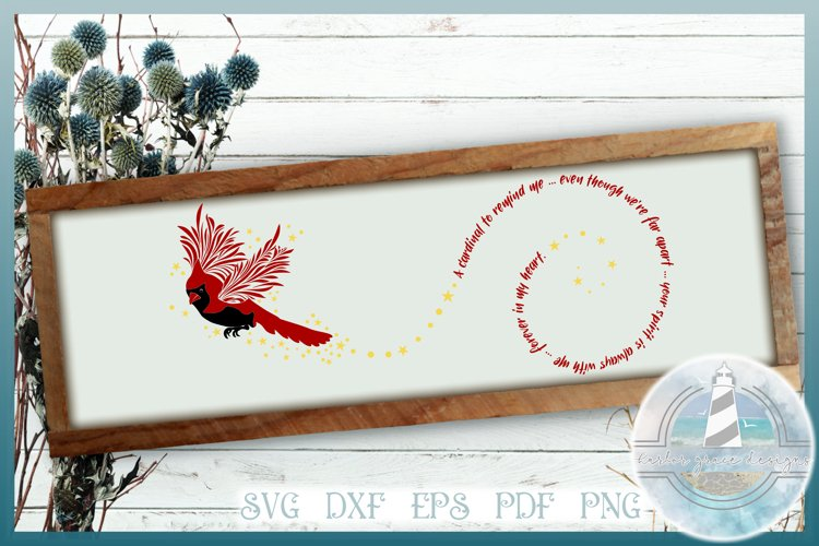 Cardinal To Remind Me Memorial Quote SVG