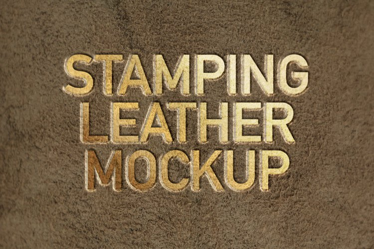 Stamping Leather Logo Mockup example image 1