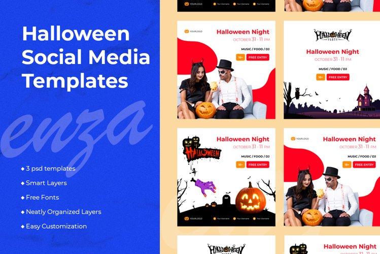 Halloween Social Media Templates