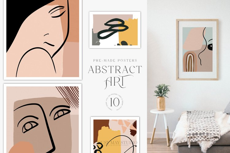Abstract Art Posters Wall Art Bohemian Minimalist Posters