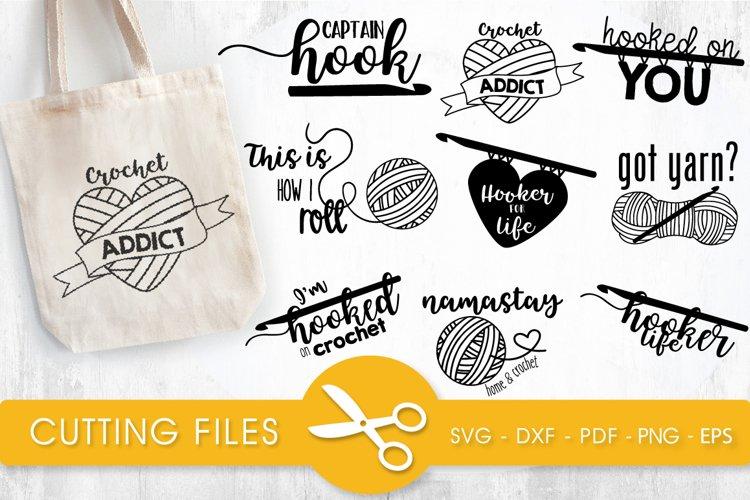 Crochet svg bundle cutting files svg, dxf, pdf, eps, png