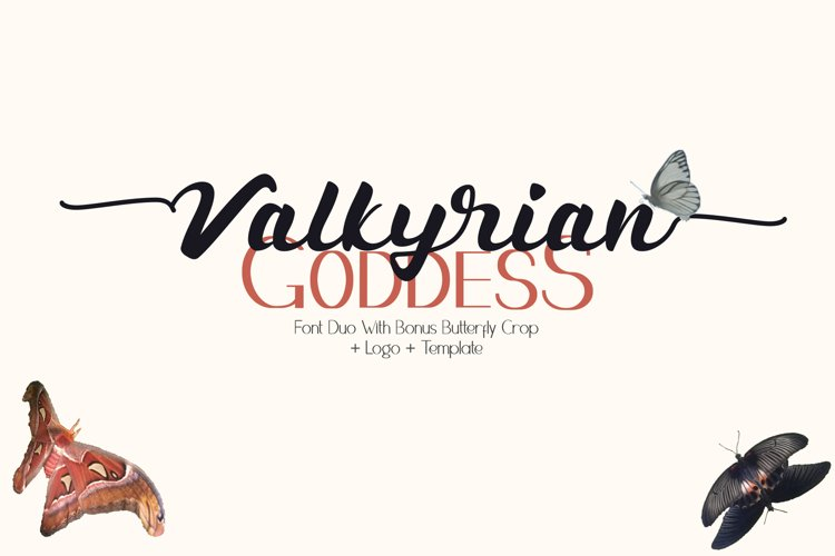 Valkyrian Goddess Font Duo example image 1