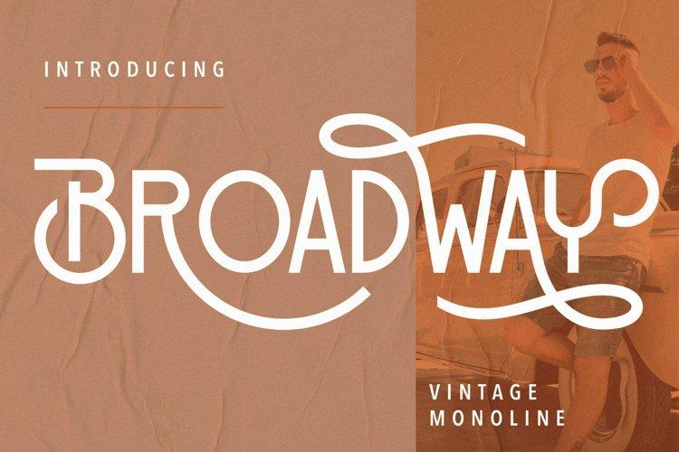 Broadway Vintage Monoline example image 1