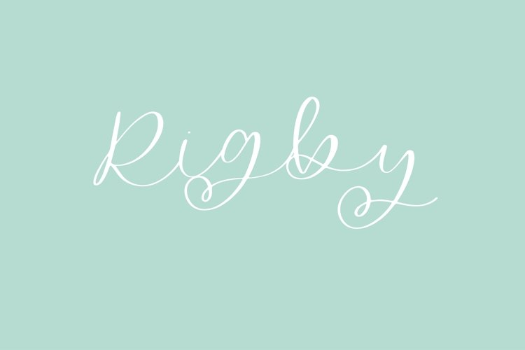 Rigby - A Flowing Script example image 1