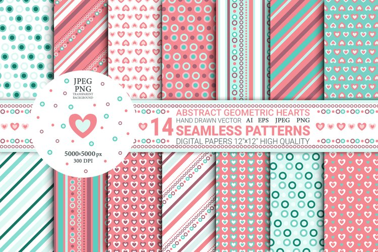 Abstract Geometric Seamless Patterns. Digital Papers