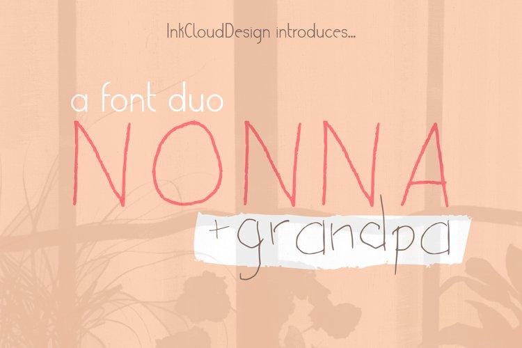 Handwritten Script Font Duo Kid Crafting Typeface Lettering
