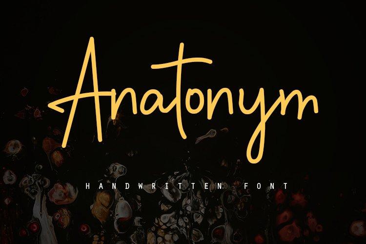 Anatonym - Script Font example image 1
