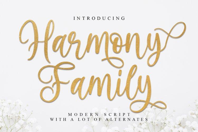 Harmony Family | beautiful Script example image 1