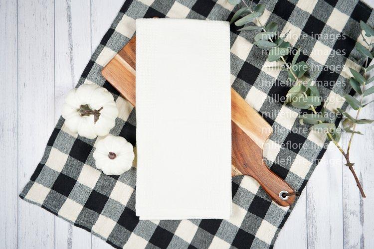 Farmhouse Tea Towel Flatlay Craft Mockups JPEG Styled Photo