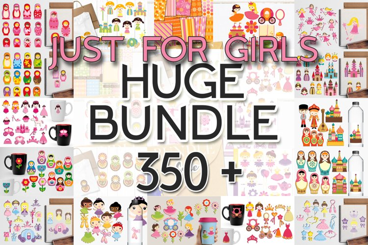 Just For Girls Clip Art Illustrations Huge Bundle