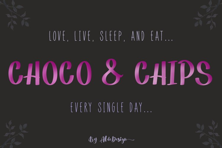 Choco & Chips Font example image 1