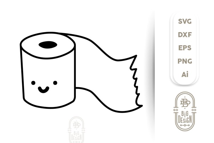 Toilet Paper SVG File - Cute Toilet Paper Roll /Toilet Humor example image 1