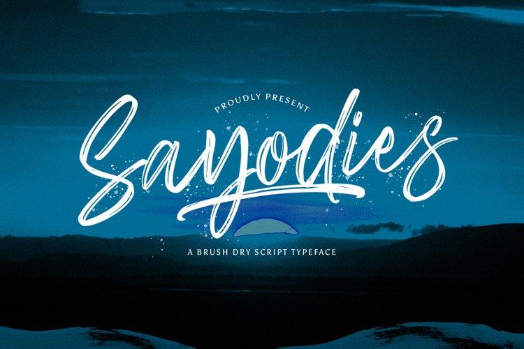 Sayodies - Handbrush Script Font example image 1