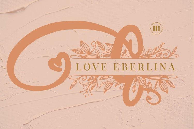 Love Eberline Monogram Font example image 1