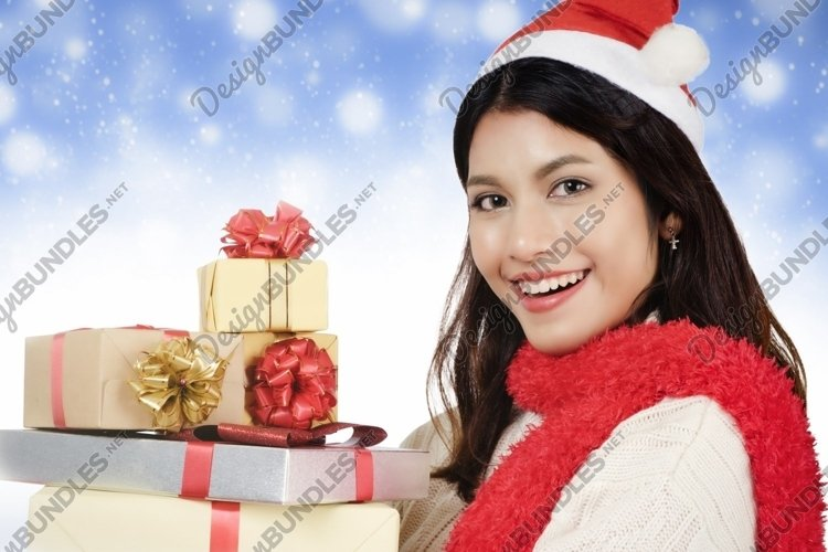 Christmas and shopping concept. example image 1