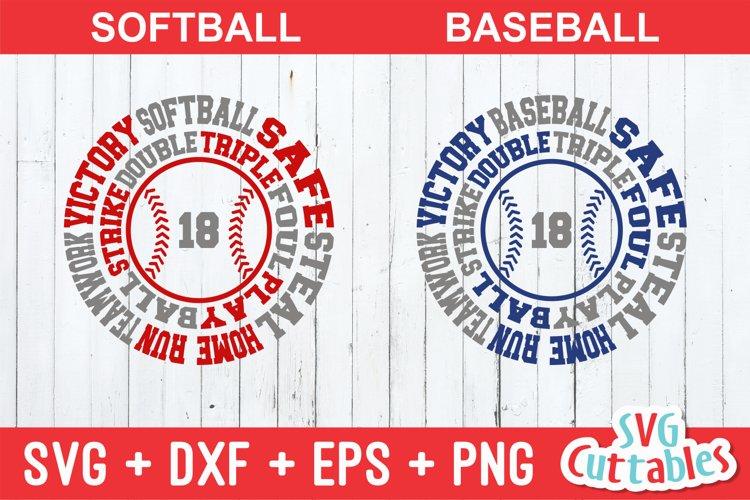 Baseball SVG   Baseball / Softball Round Subway Art example image 1
