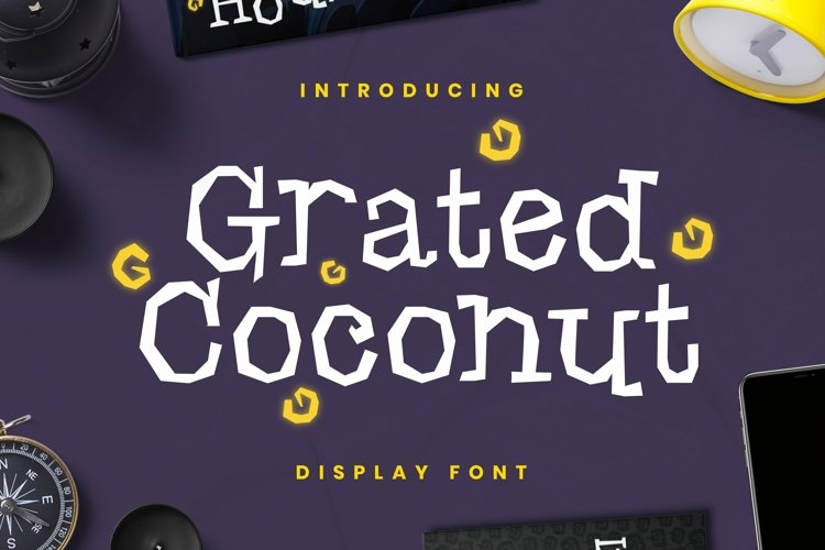 Web Font Grated Coconut Font example image 1