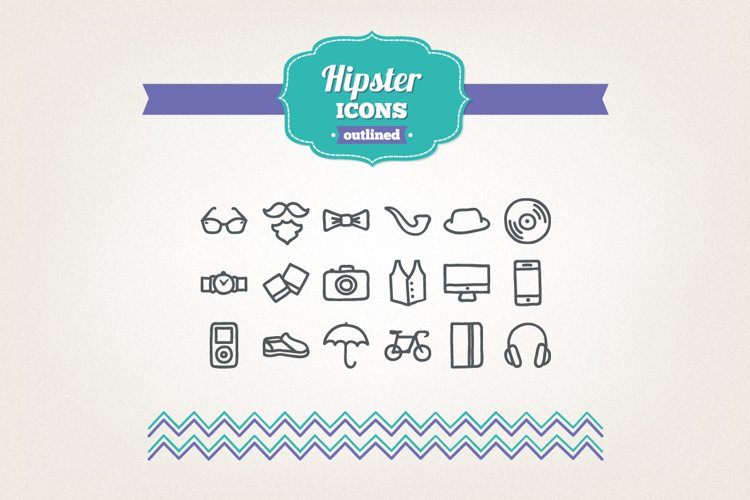 Hand Drawn Hipster Icons example image 1