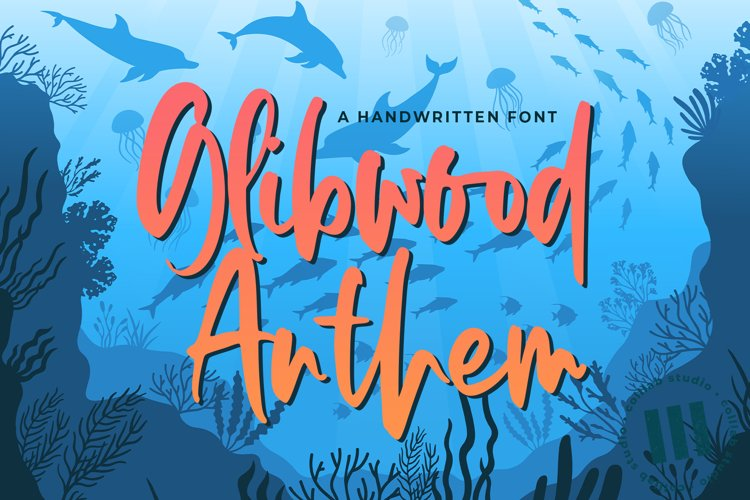 Glibwood Anthem - A Handwritten Font example image 1