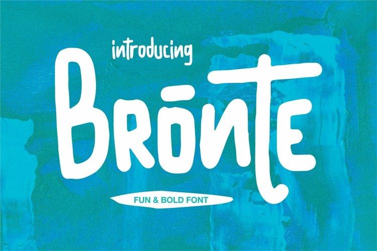 Bronte - Fun & Bold Font