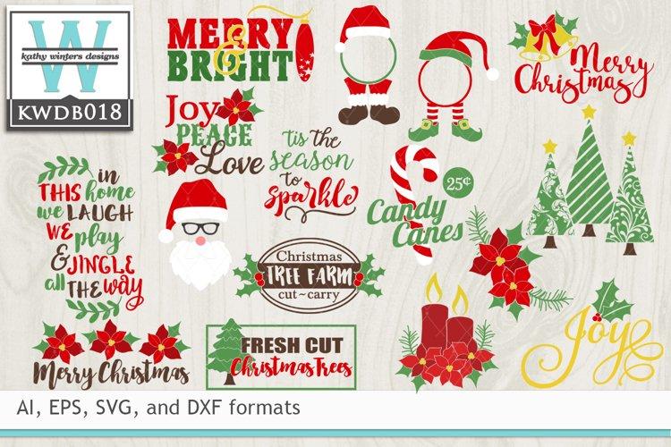 Bundled Christmas Cutting Files Kwdb018 111455 Cut Files Design Bundles