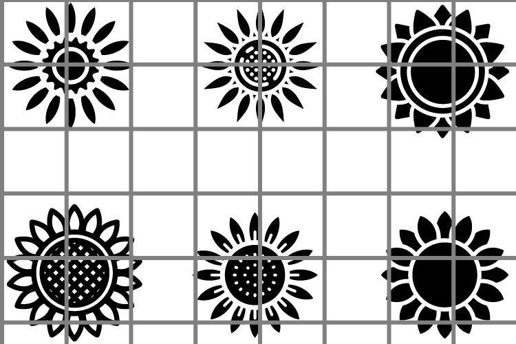 Sunflower or flower SVG set for cut. Nature illustration. example image 1