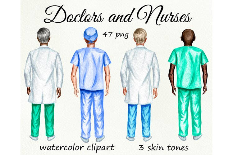 Nurses clipart, Doctor clipart, Medical clipart Custom Nurse example image 1
