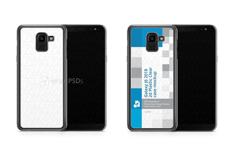 Samsung Galaxy J6 2d PC Clear Case Design Mockup 2018 example image 1