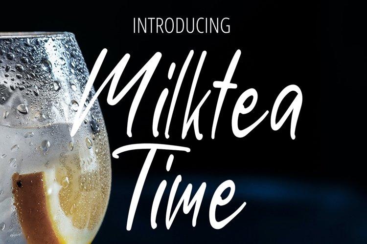 Milktea Time Handwritten Font example image 1