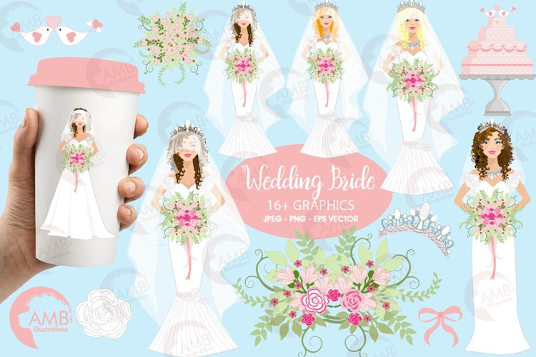 Wedding Bride cliparts AMB-937 example image 1