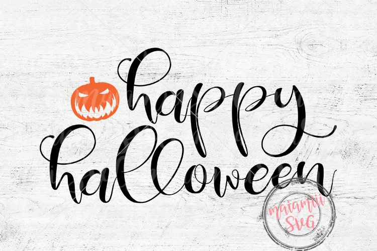 Halloween SVG Happy Halloween SVG Digital Cut File example image 1