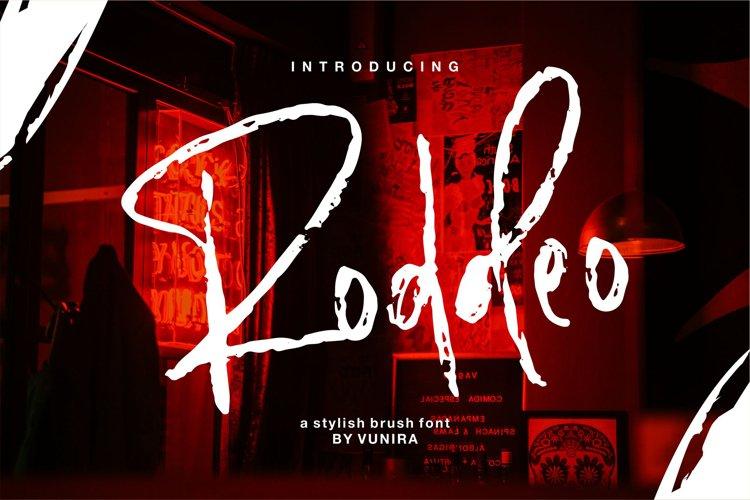 Roddeo | A Stylish Brush Font example image 1
