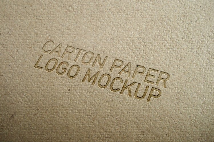 Pressed Carton Paper Logo Mockup example image 1