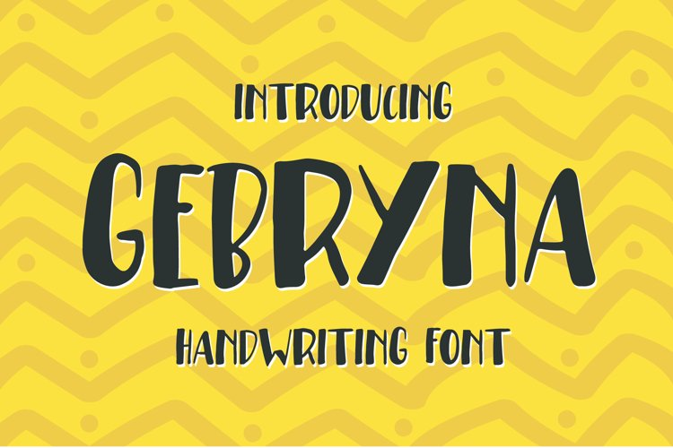 Gebryna Typeface - Handwriting Font example image 1