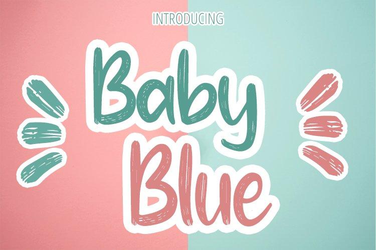 Baby Blue Handwritten Brush Font example image 1