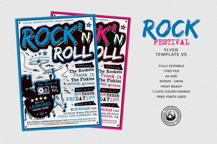 Rock Festival Flyer Template V5 example image 1