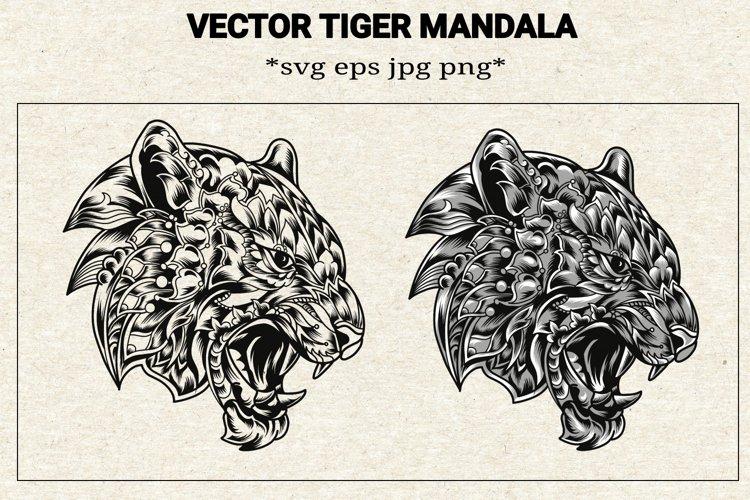 Svg tiger mandala