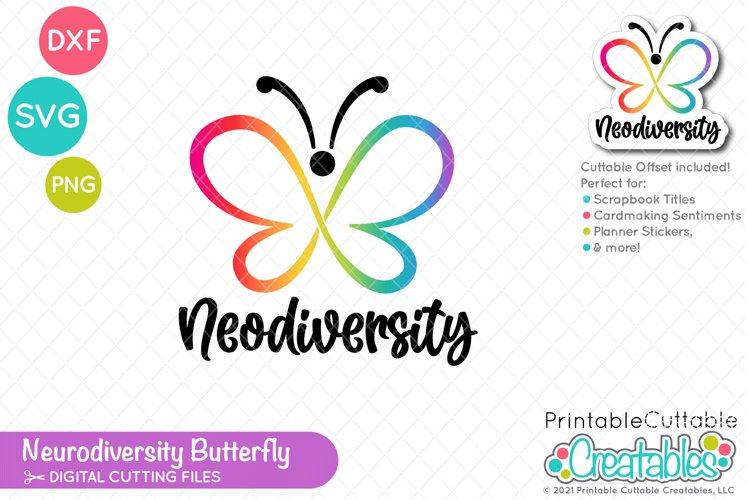 Neurodiversity Butterfly SVG File | Autism SVG File