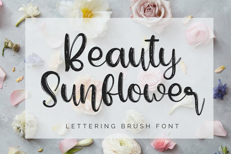Beauty Sunflower-Lettering Font example image 1