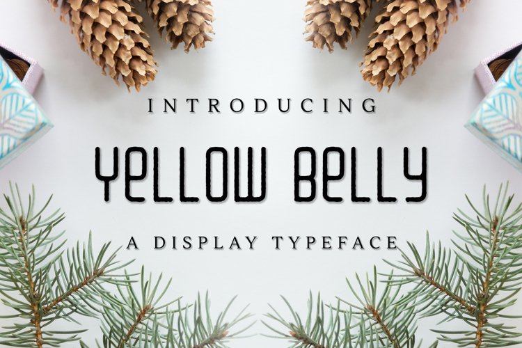 Web Font Yellow Belly example image 1