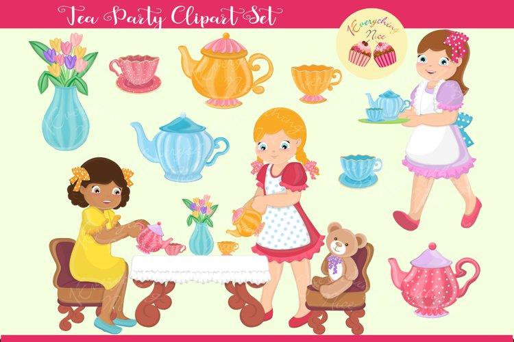 Tea Party Clipart Set