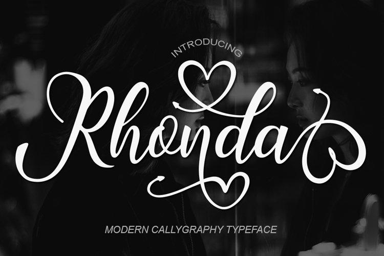 Rhonda Script example image 1