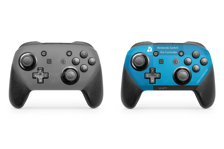 Nintendo Switch Pro Controller Skin Mockup 2017 2 View example image 1
